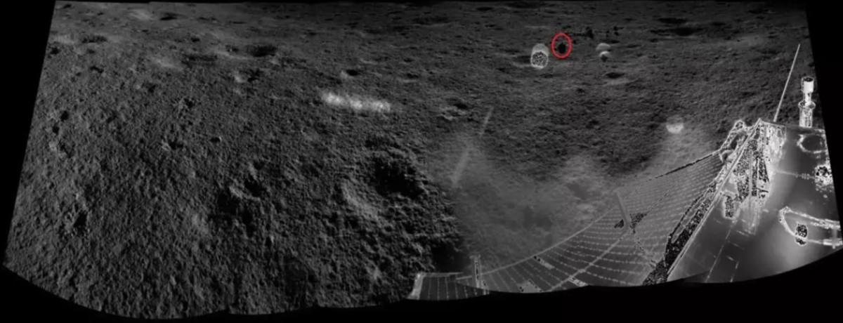 La ubicación de Yutu-2 en el cráter Von Kármán