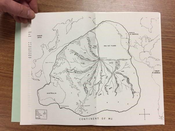 Un intrigante mapa mostrando a Lemuria -Mu, según interpretación de los místicos norteamericanos, Lemurian Fellowship.org, incluido en Into The Sun