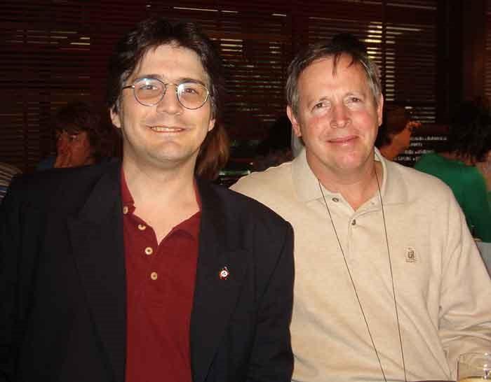 Marcelo Martorelli junto a Steve Currey, en su recordada visita a la Argentina
