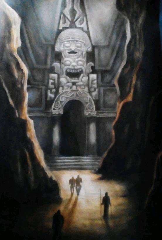 Puerta al Inframundo, ilustración del artista plástico argentino, Fernando Gabriel Maidana, 2018. Y que fuera contratapa de mi libro, sobre Tierra Hueca