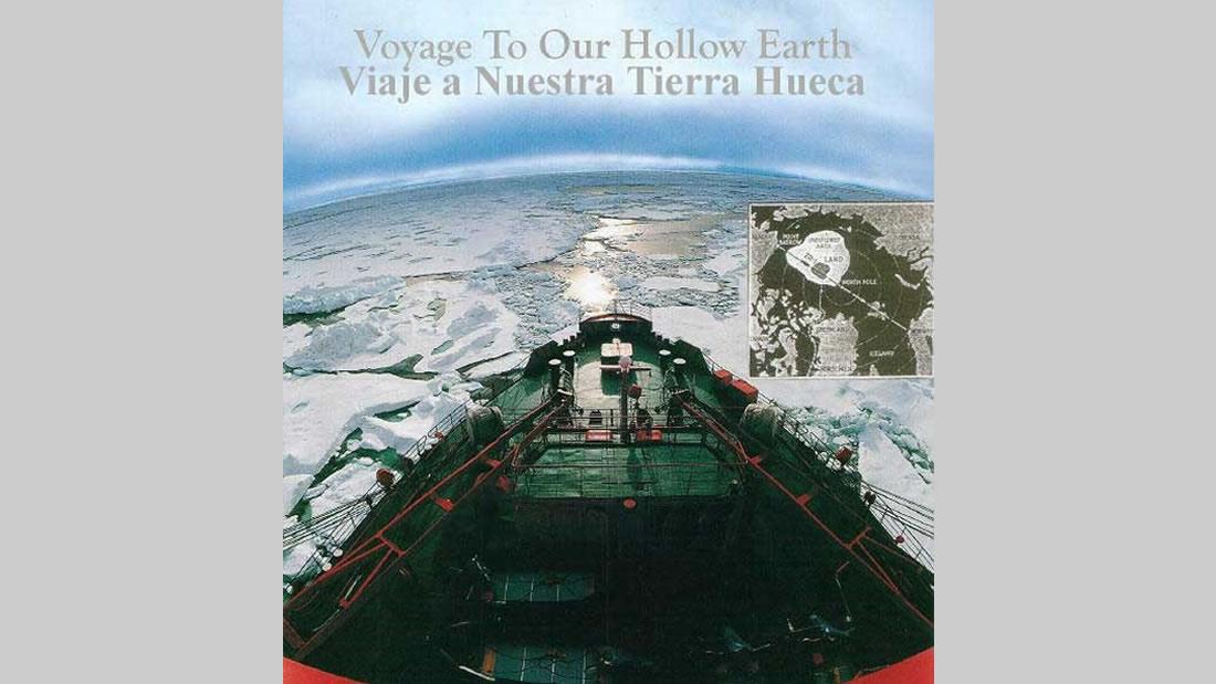 Propaganda, anunciando el viaje polar, hacia tierra hueca. Cortesía Marcelo Martorelli
