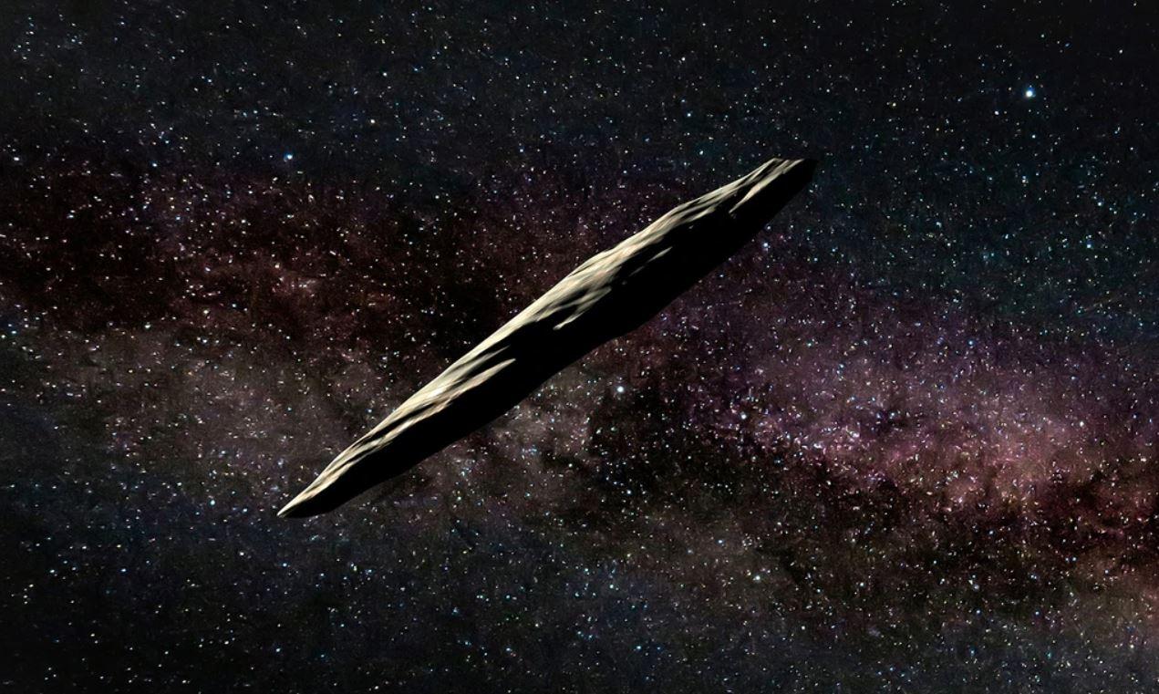 Representación artística de 'Oumuamua