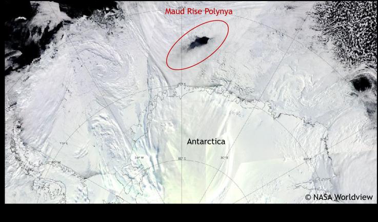 Agujero «Polinya» en la Antártida