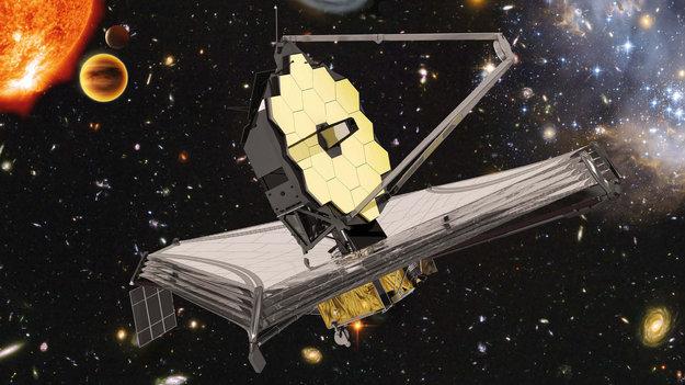 Representación artística del telescopio James Webb