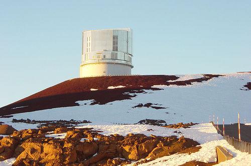 El telescopio Subaru en la cima de Mauna Kea, Hawaii