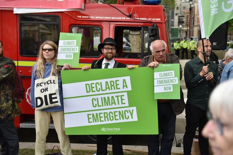 Activistas en protestas contra el cambio climático