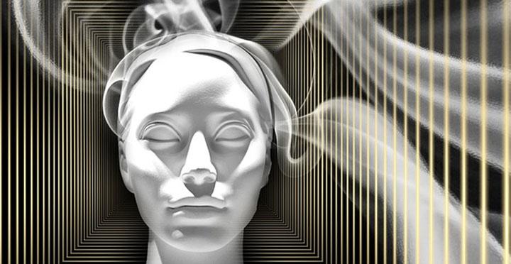 Imagen ilustrativa del alma o la consciencia, ubicada en la cabeza