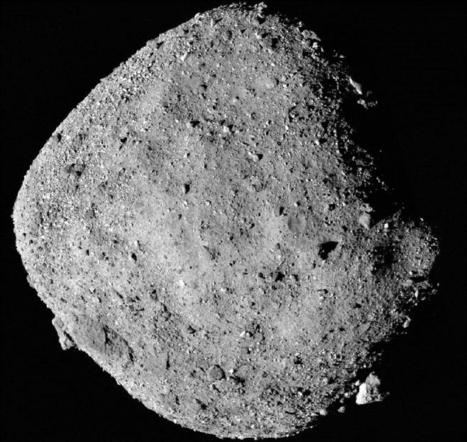El asteroide Bennu se muestra en esta fotografía de la NASA desde el 2 de diciembre de 2018. Es llamado el «asteroide de la muerte».