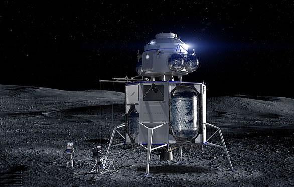 Representación artística del aterrizador lunar Blue Moon