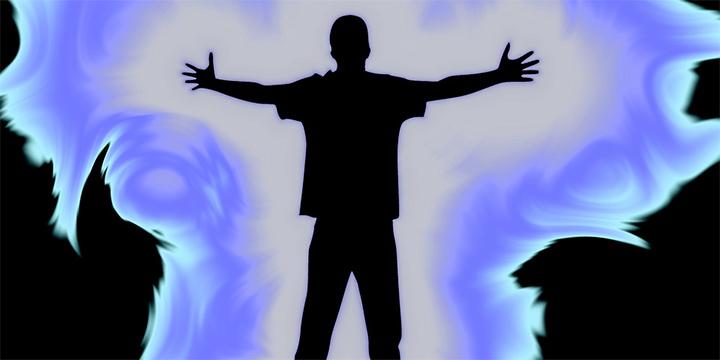 Campo de energía alrededor del cuerpo. Imagen ilustrativa