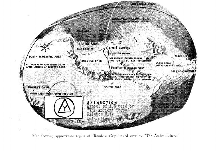 Mapa mostrando la ubicación de Rainbow City