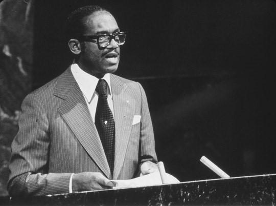 Eric Gairy hablando en ONU, 1978