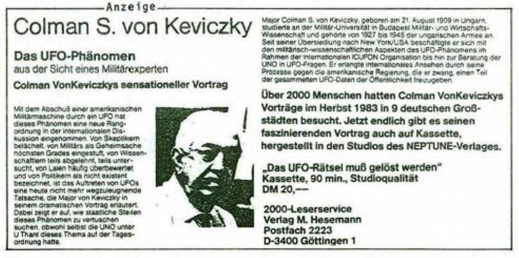 Una credencial de Colman S. Keviczky, que más tarde inspiraría el concepto lanzado por Reegan, sobre Guerra de las Galaxias