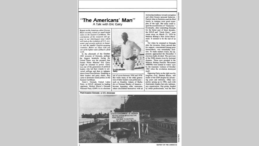 Eric Gairy en una entrevista de los setenta