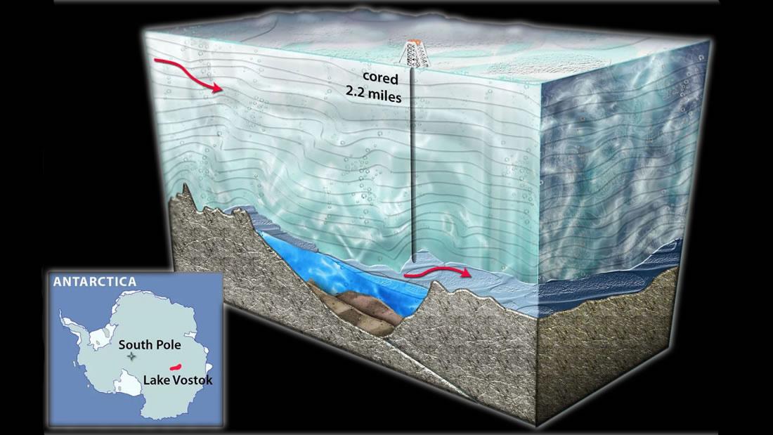 Detectan una estructura de roca antigua escondida debajo de la Antártida que está cambiando el hielo