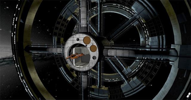 Imagen referencial de una estación espacial alienígena