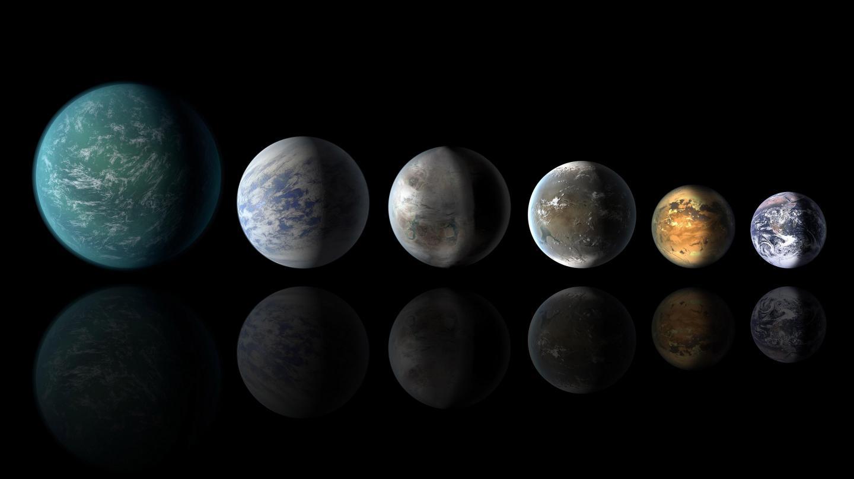 Exoplanetas similares a la Tierra, algunos de ellos mundos casi totalmente acuáticos