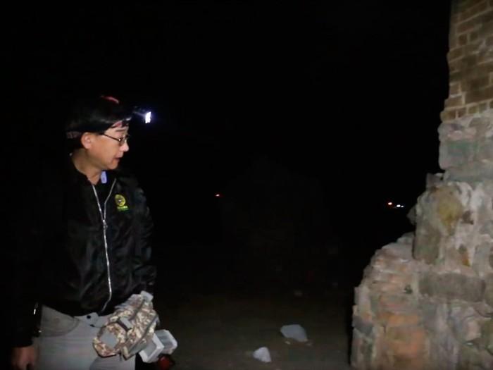 Llegada a los restos de la iglesia Yungay