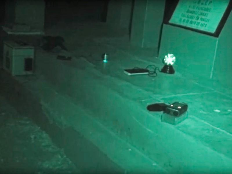 Transcomunicación en el monumento de la comisaría de Yungay