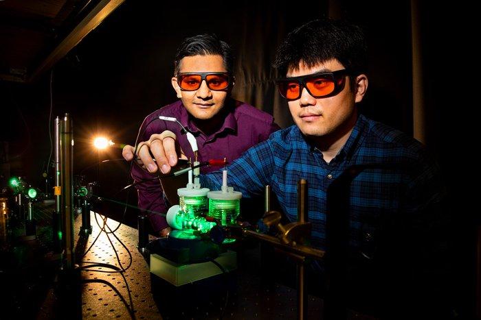 Prashant Jain, a la izquierda, y co-autor Sungju Yu