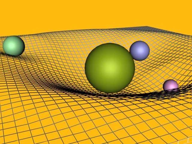 Imagen referencial (gravitones, curvatura del espacio-tiempo)