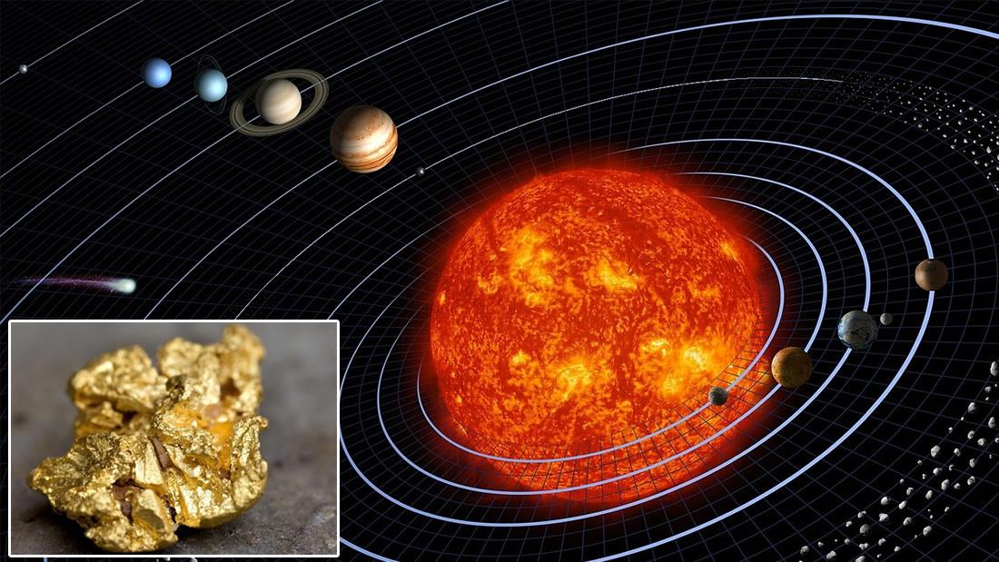 Hallan una antigua colisión estelar que inundó de oro nuestro sistema solar
