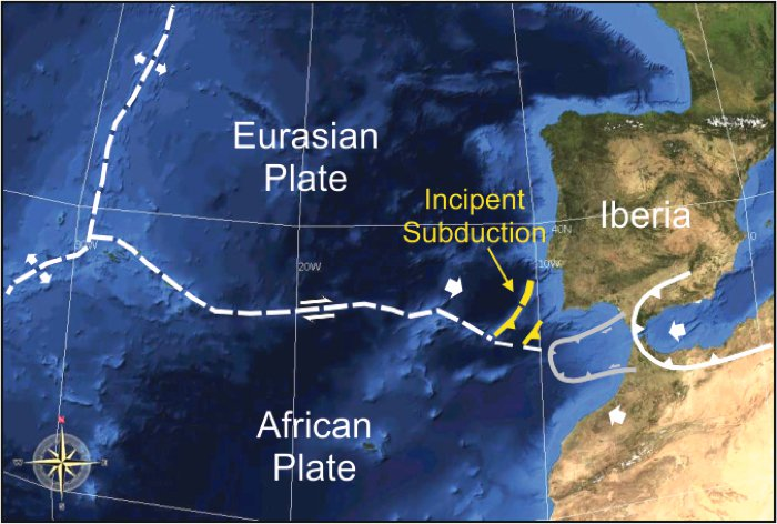 Una placa tectónica se está separando en dos debajo del océano