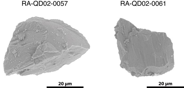 Morfología original de las dos partículas de Itokawa estudiadas