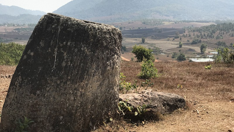 Jarrón hallado en la provincia de Xiengkhouang, Laos