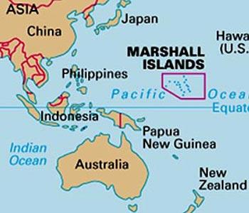Ubicación de las Islas Marshall