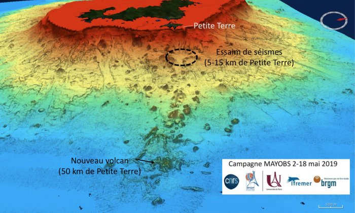 Detectan la erupción de un volcán submarino más grande jamás vista