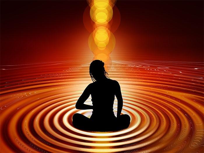 .Imagen espiritual referente a la meditación, que funciona para lograr el salto cuántico