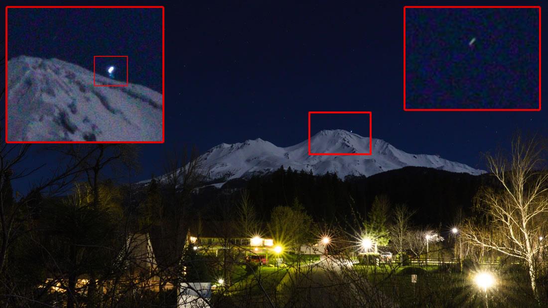 Anomalía es fotografiada en el Monte Shasta en California