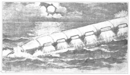 Los Valixis podían andar bajo el agua, como los modernos submarinos. Grabado que aparece en el libro