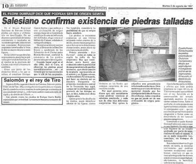 Piedras Grabadas de Rawson ¿una enigmática presencia semita en Argentina?