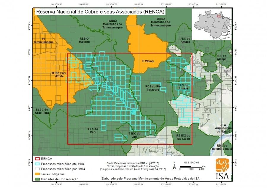 Mapa de procesos mineros en RENCA
