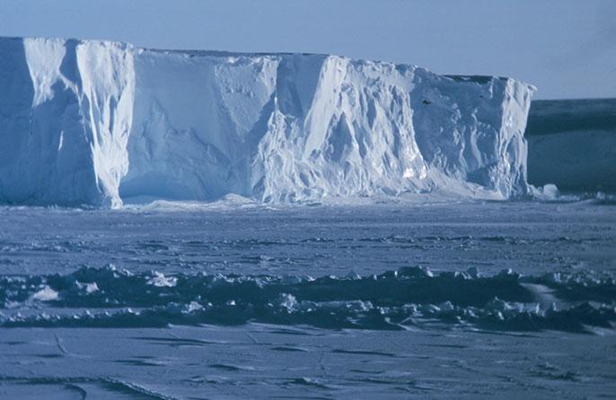 La plataforma de hielo de Ross en la Antártida