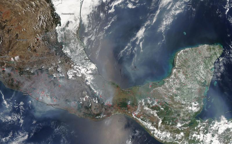 Incendios en México vistos desde el espacio
