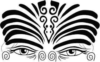 Tatuaje maorí en la frente, ¿tendrá que ver con activar la glándula pineal, ubicada al mismo nivel?