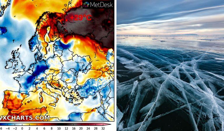 El norte de Rusia alcanzó los 29 °C  de temperatura el último fin de semana
