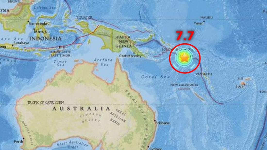 Terremoto de 7.7 sacude Papúa Nueva Guinea y activan alerta de tsunami