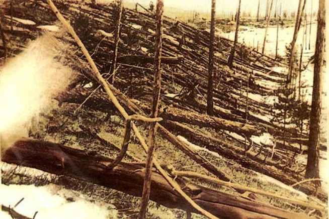 Foto histórica del daño causado en Tunguska (1929)