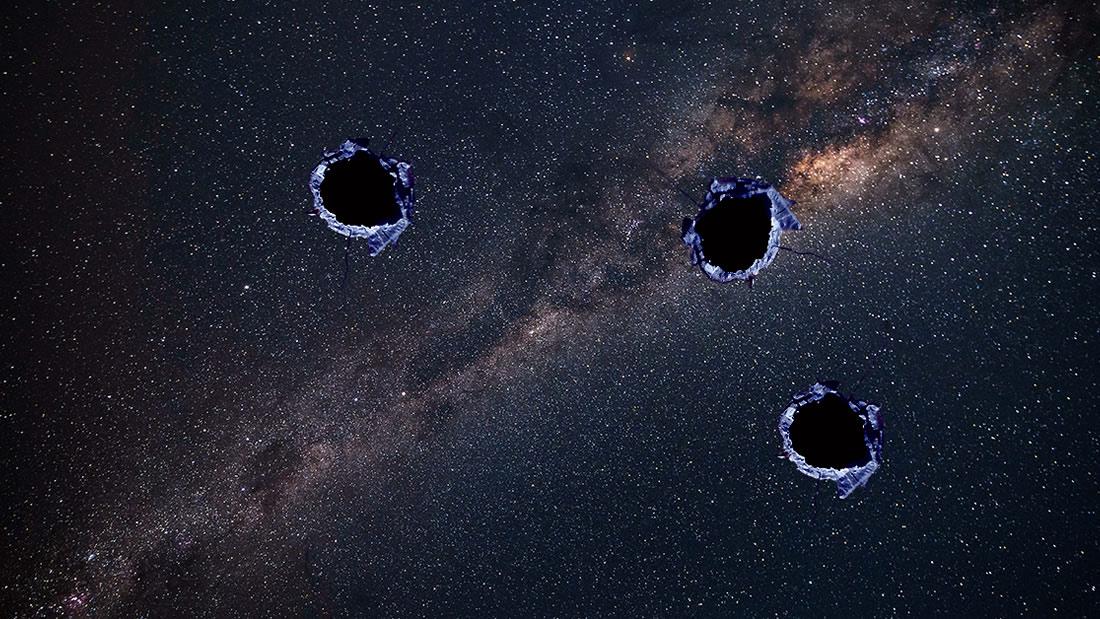 Un objeto desconocido y denso ha perforado «agujeros de bala» en la Vía Láctea