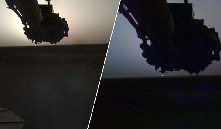 Un amanecer y atardecer en Marte captados por el rover Insight