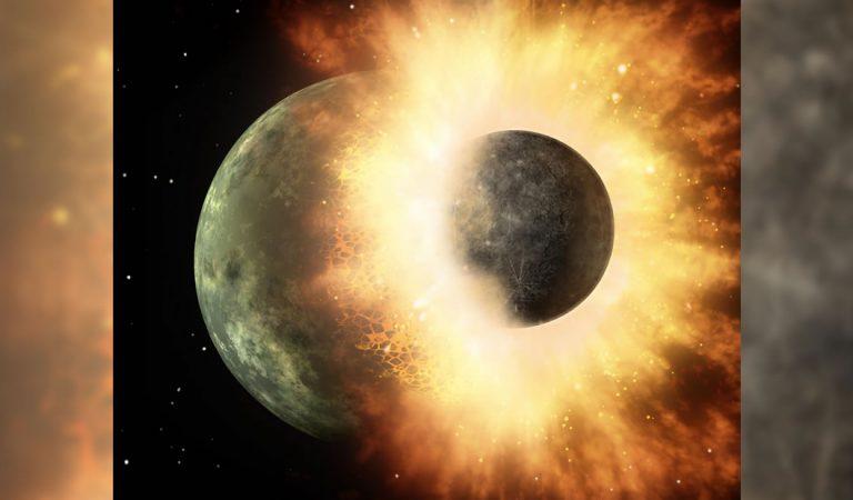 Un violento impacto en la Luna alteró la superficie de sus hemisferios