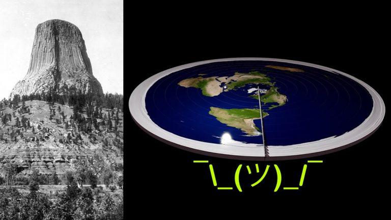 Ahora los terraplanistas «afirman» que los árboles no existen