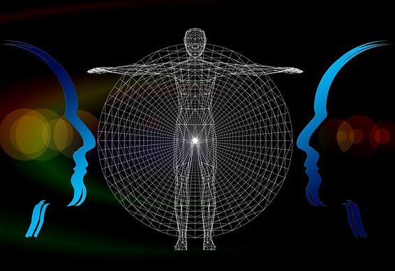 Ilustración sobre un cambio dimensional o cambio de consciencia