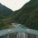 China construye una carretera en el bosque sin cortar un árbol