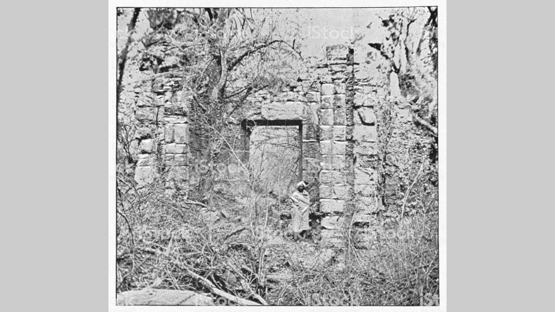 Antiguas ruinas ceilandesas, en Kandi, que recuerdan a la descripción de la misteriosa ciudad narrada, en Manuscrito 512 por los portugueses