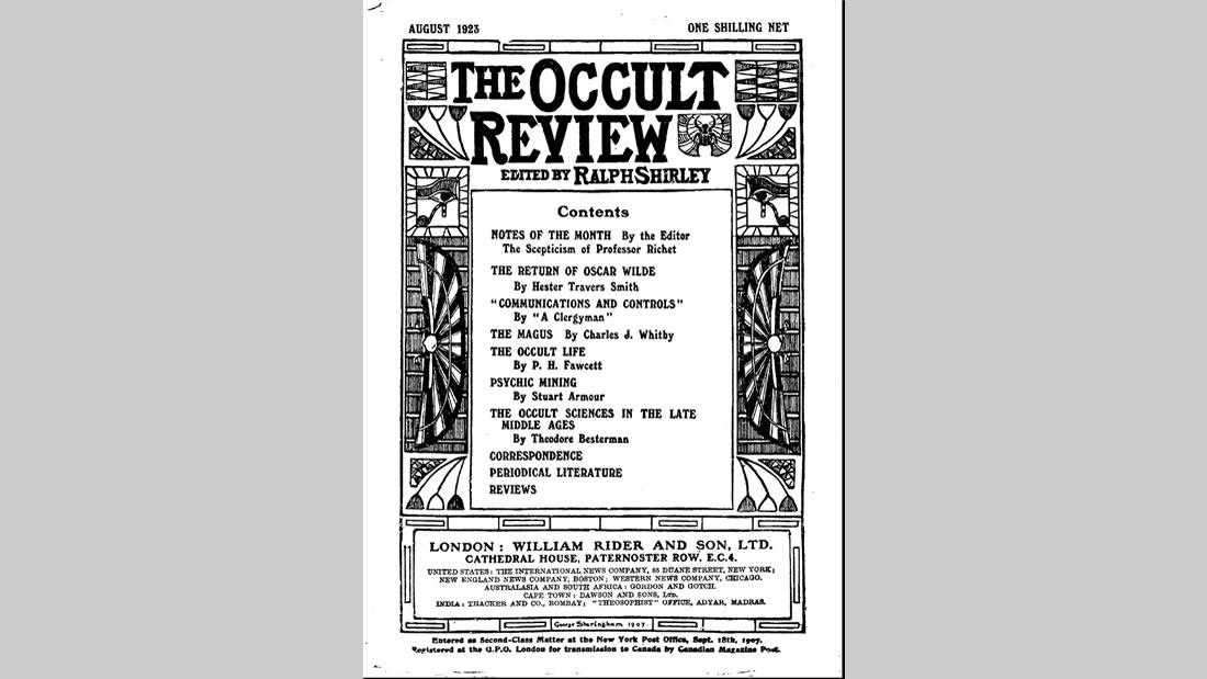 Un artículo que H.P Fawcett escribiera en 1923, donde alude a la existencia de la Hermandad Blanca